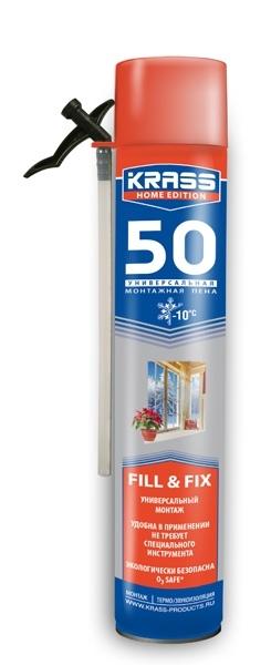 'Пена монтажная КRASS 50 бытовая 750 мл