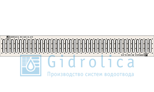 'Решётка водоприёмная штампованная стальная оцинкованная 1 м