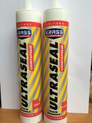 Герметик KRASS силикон Ultraseal санитарный Белый 260мл Польша