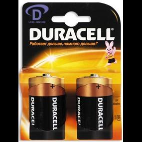Батарейка большая Duracell R-20 блистер-2шт