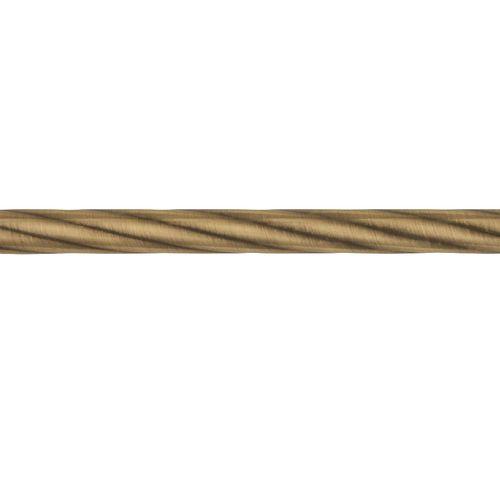 Труба d 16 мм Твист антик-золото 2,4 м