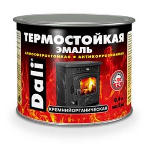 Эмаль термостойкая DALI чёрная 0,4л