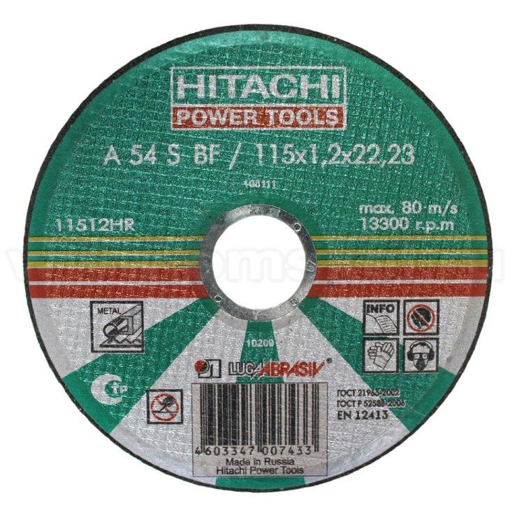 Диск отрезной по металлу Hitachi-Луга 115-1,2мм-22,2