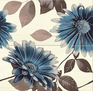 Панно  Sun Flower blue flower  58.3x59.3