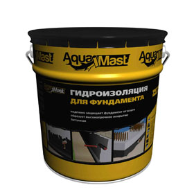 Мастика битумная Технониколь AguaMast 3 кг для фундамента