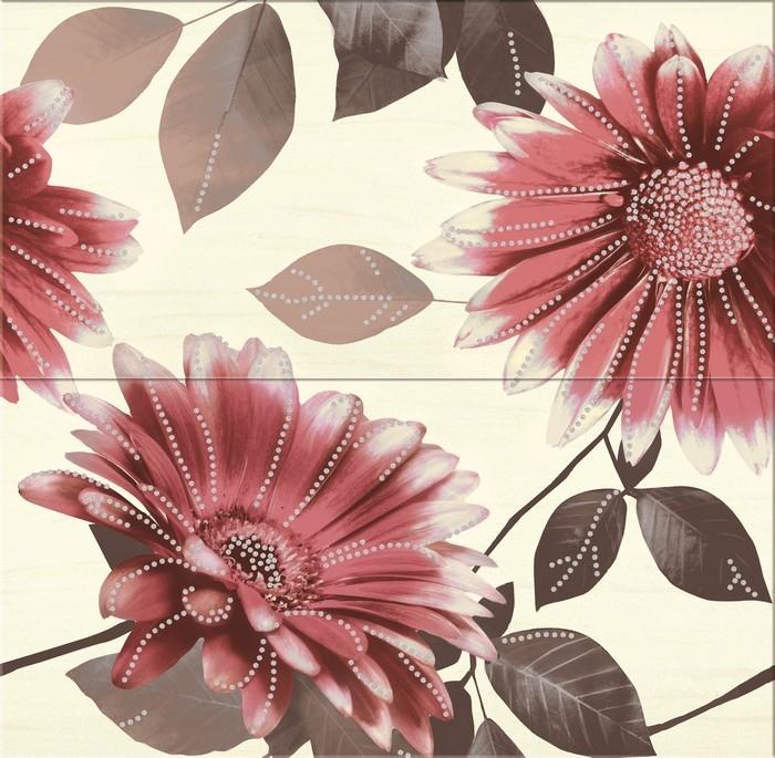 Панно  Sun Flower red flower  58.3x59.3