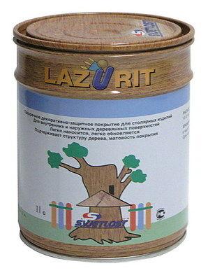 Лазурит пропитка для дерева №02 бесцветный 0,9л
