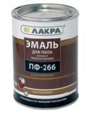 'Эмаль ПФ-266 для пола красно-коричневая 3 кг (Лакра Синтез)