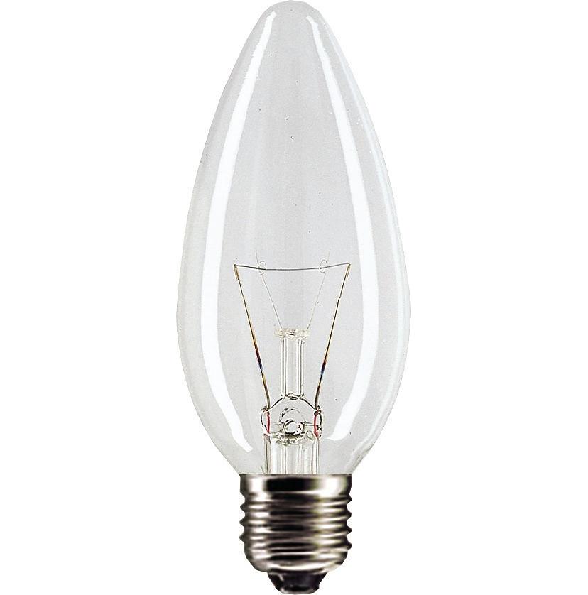 'Лампа GE 90, 60 Вт (свеча прозрачная)