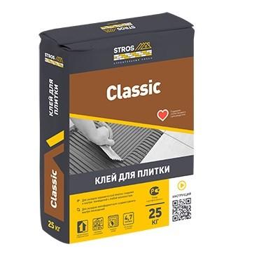 Клей для плитки Stros Classic 25кг