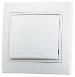 Выключатель Lezard 1-клав. белый 701*0202*100