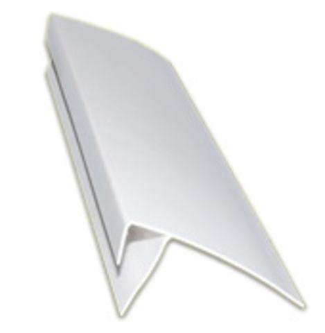 'Профиль F 8-10 мм, 3м белый