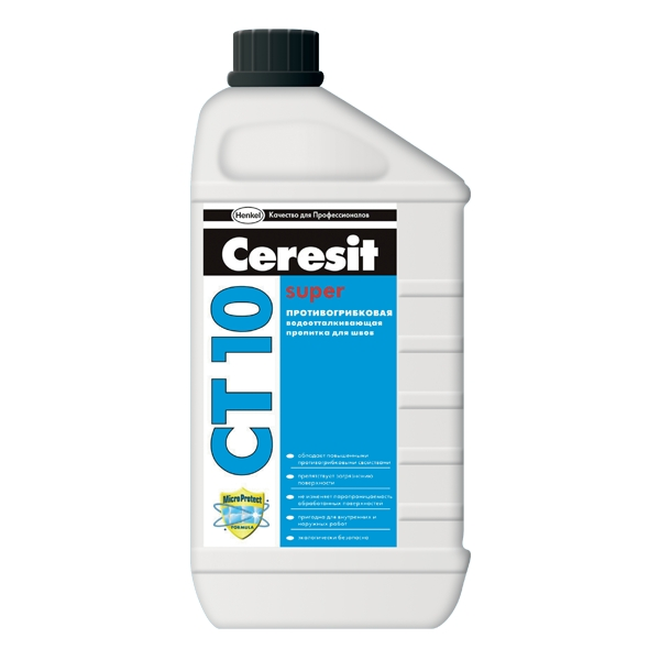 'Церезит СТ-10 Противогрибковая водоотталкивющая пропитка для швов