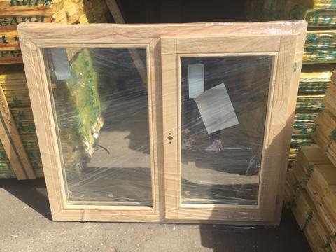 Оконный блок ОДОСП 1000х1200 деревянный со стеклопакетом