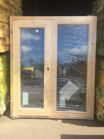 Оконный блок ОДОСП 1200х1000 деревянный со стеклопакетом