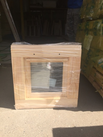 Оконный блок ОДОСП 500х500 деревянный со стеклопакетом