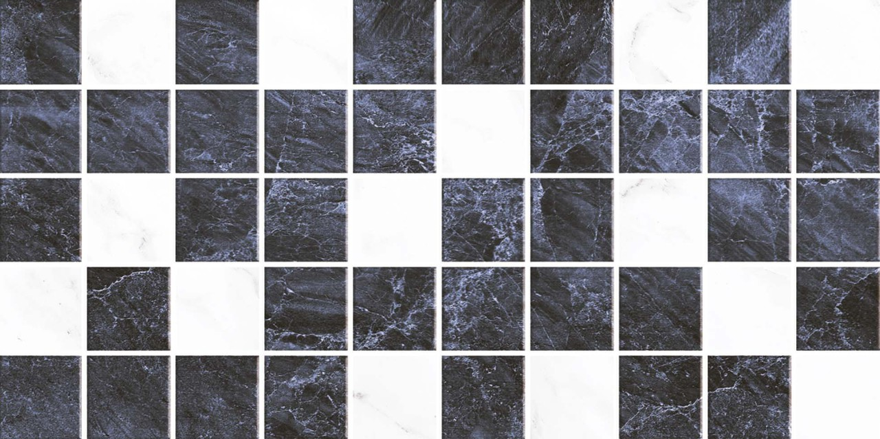 Декор Мозайка Соланж чёрная (09-00-5-10-31-04-616) 25х50