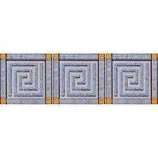 Декор Пальмира Комплект стеклянных вставок (3шт/компл.) серый 5,5х5,5