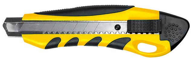 Нож 18мм TOPEX 3 лезвия