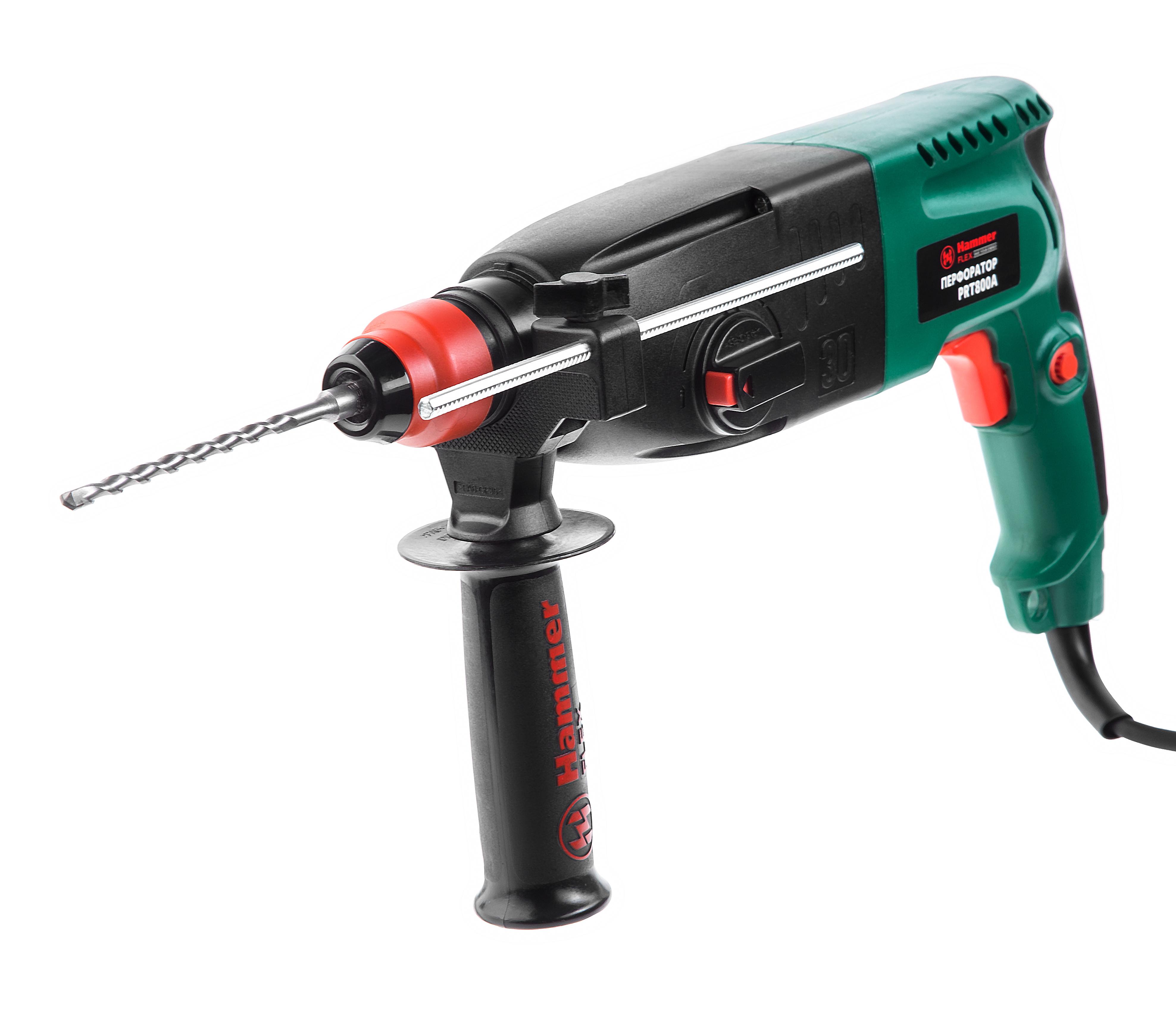 Перфоратор Hammer Flex PRT800A ,800Вт SDS+26мм 0-780об/мин 2.6Дж 3 режима, кейс