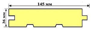 Доска пол С 36х145х6000 мм (уп.-2шт) 1,74 кв.м.