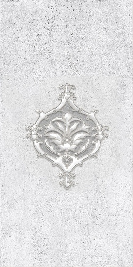 Декор Преза серый (04-01-1-08-04-06-1015-0) 20х40
