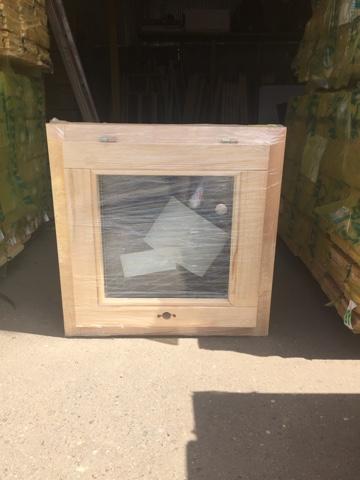 Оконный блок ОДОСП 600х600 деревянный со стеклопакетом