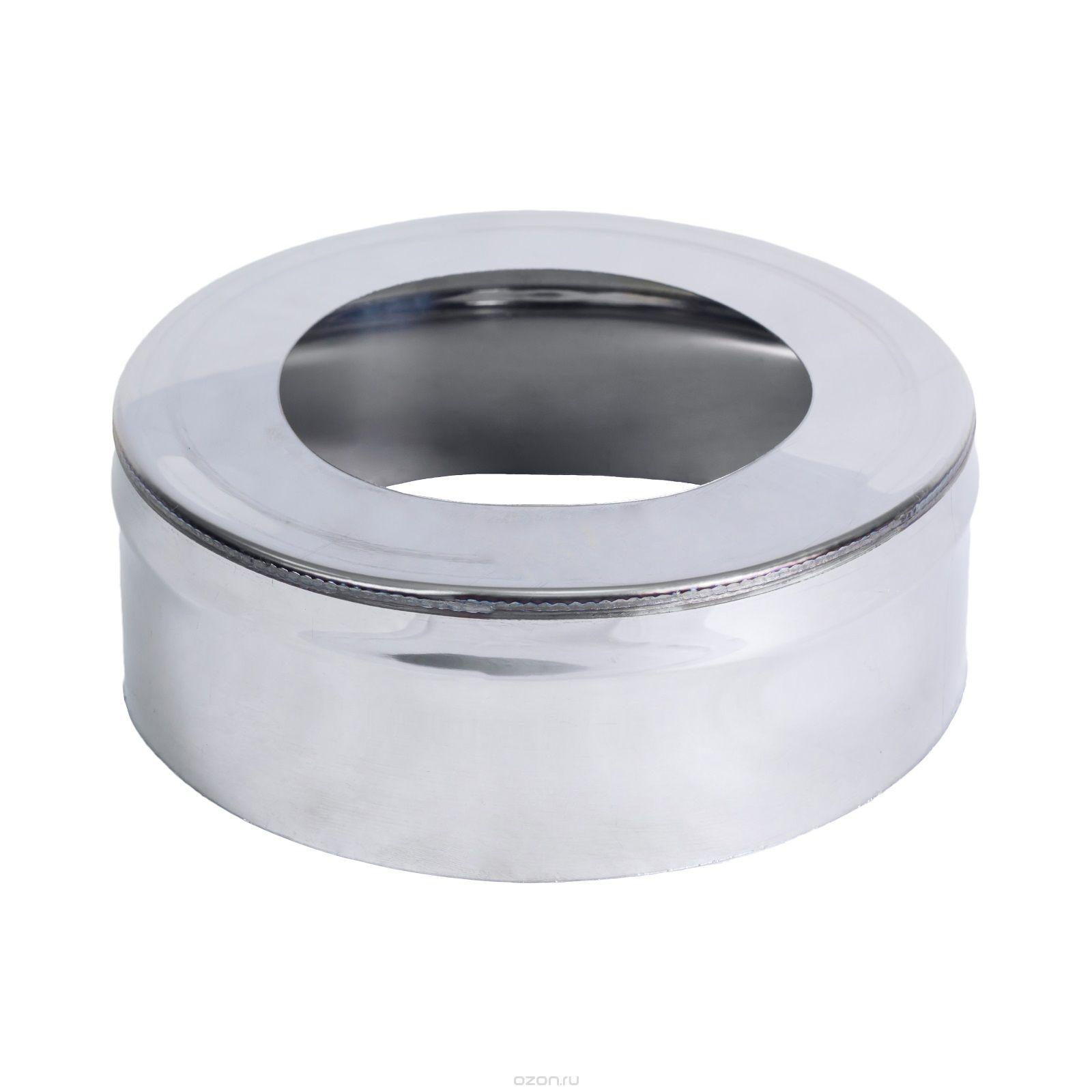 Заглушка ф 200 х120 мм н/ж 0,5мм с отверстием