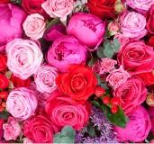 Фотопано Розовый букет  300х280