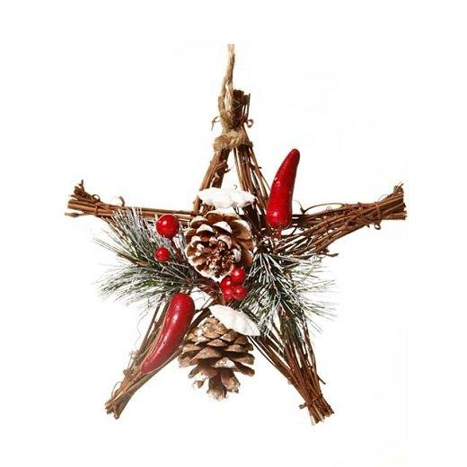Украшение новогоднее из дерева с шишками