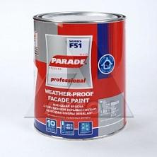 Краска фасадная PARADE F51 белая матовая 0,9л База А