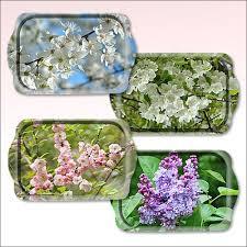 'Поднос цветущие деревья 38*25см