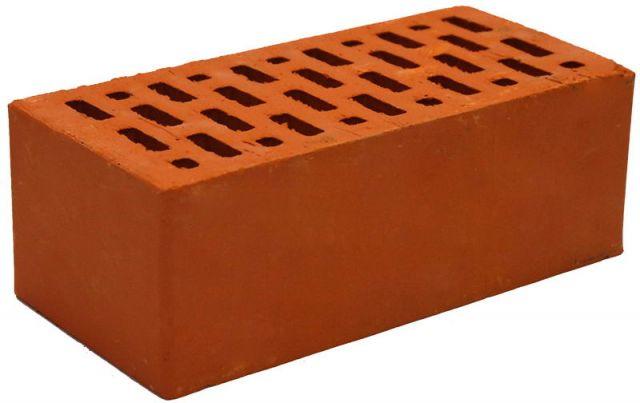 Кирпич обл. полут. М150 красный BRAER 3,4кг 250 х120 х88 мм (в под.-352 шт.)