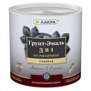 Грунт-эмаль по ржавчине 1,7кг шоколадно-коричневый Лакра