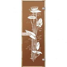 Дверь банная стекло DoorWood Бронза 200х80см