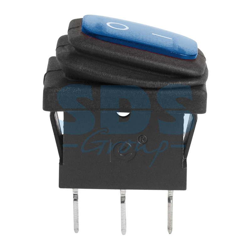 Выключатель клавишный ON - OFF синий 6А РЕКСАНТ 36-2176