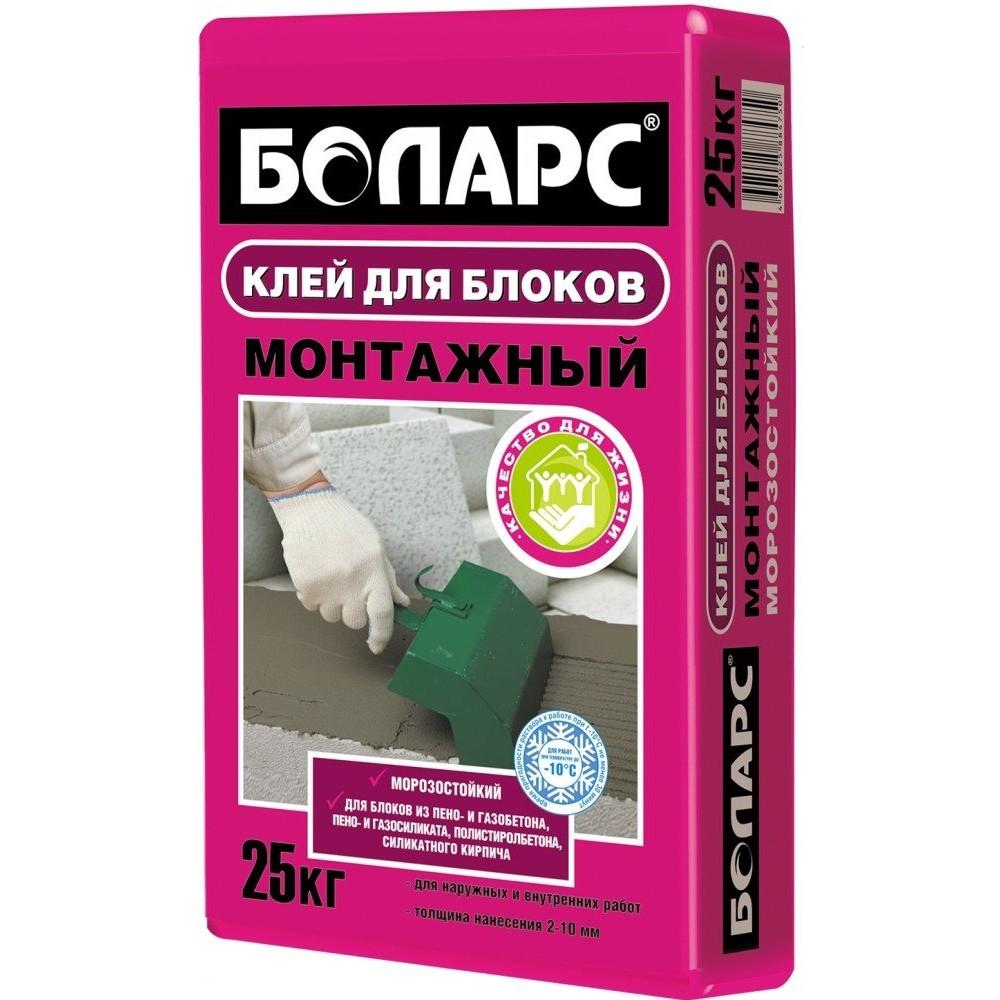 Клей МОНТАЖНЫЙ(морозостойкий) 25кг. БОЛАРС