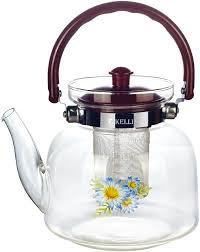 Чайник жаропрочный стеклянный 1л КЛ-3040