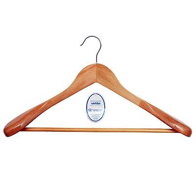 Вешалка для одежды деревянная WCH-283 светлое дерево, 45 см