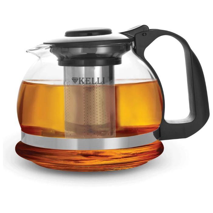 Чайник жаропрочный стеклянный 850мл KL-3037
