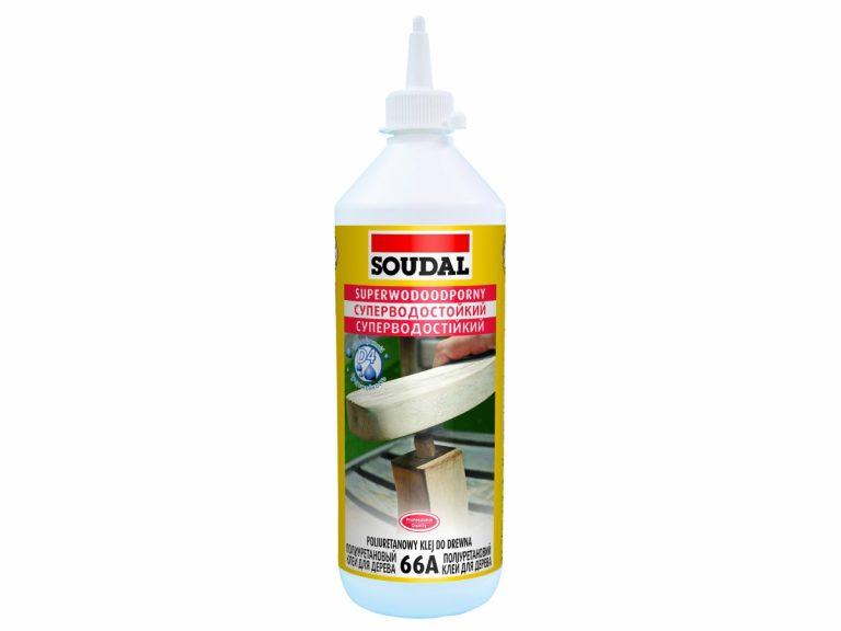 Клей для дерева Соудал полиуретановый 750мл водостойкий 66А