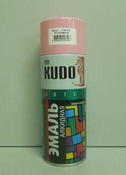 'Краска аэрозоль KUDO 520мл розовая KU-1014