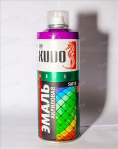 'Краска аэрозоль KUDO 520мл сатин сигнально-фиолетовая RAL4008