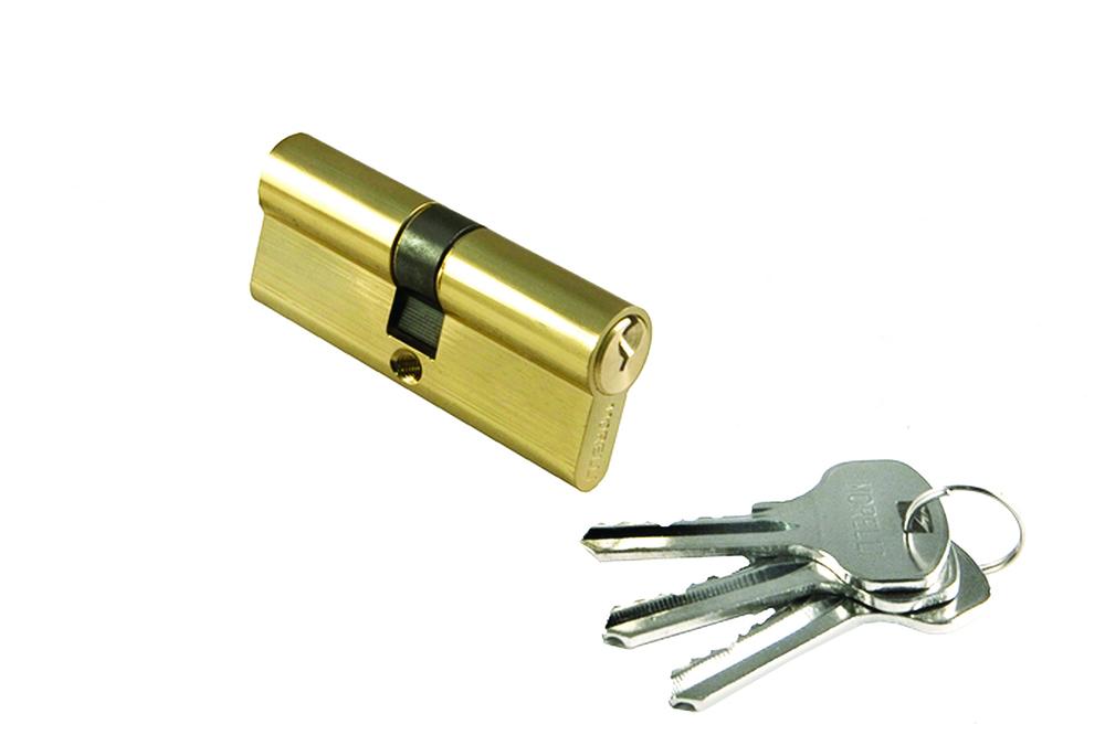 Цилиндр для замка  (А26-2) 70 мм золото