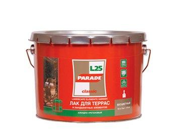'Лак алкидный PARADE для террас и веранды глянцевый 2,5 л L 25