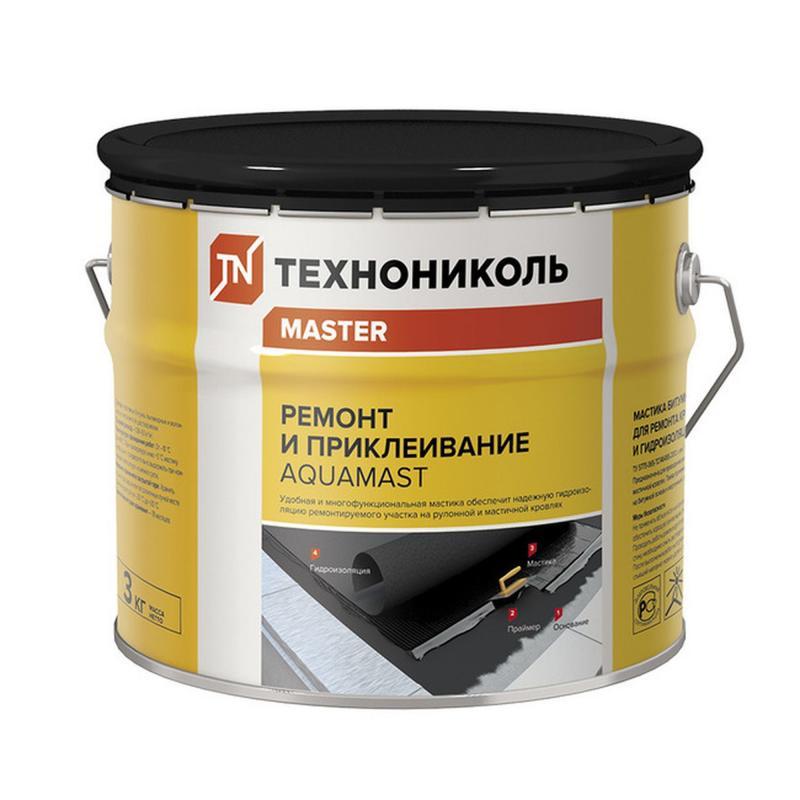 'Мастика битумная Технониколь AguaMast 3кг ремонт и приклеивание