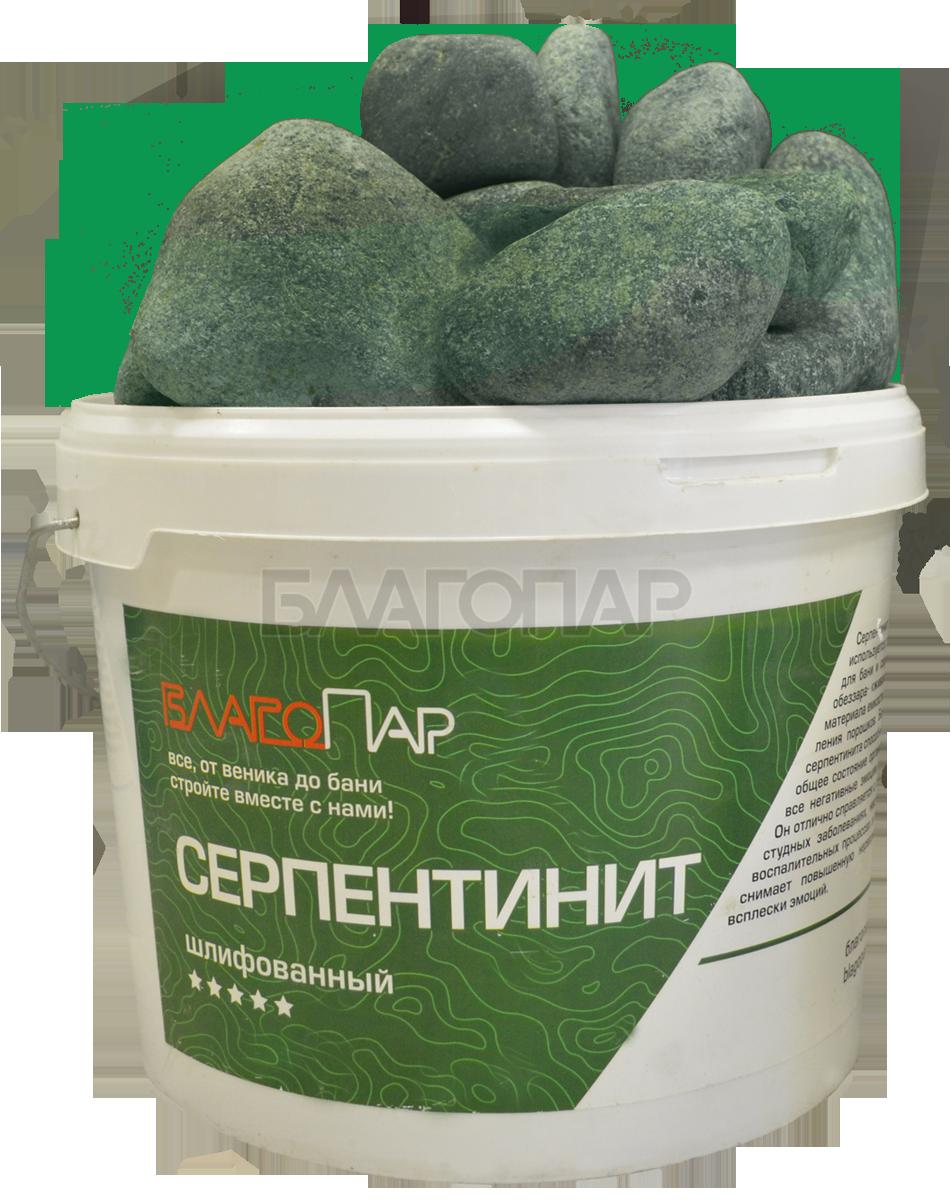 Камни для бани СЕРПЕНТИНИТ ведро 10 кг