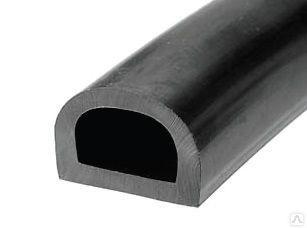Уплотнитель для дверей CYCLONE D 21х15 черный