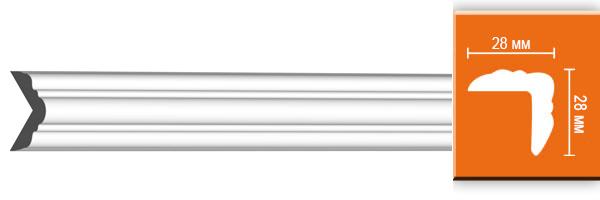 Плинтус полистирол DT 332/105