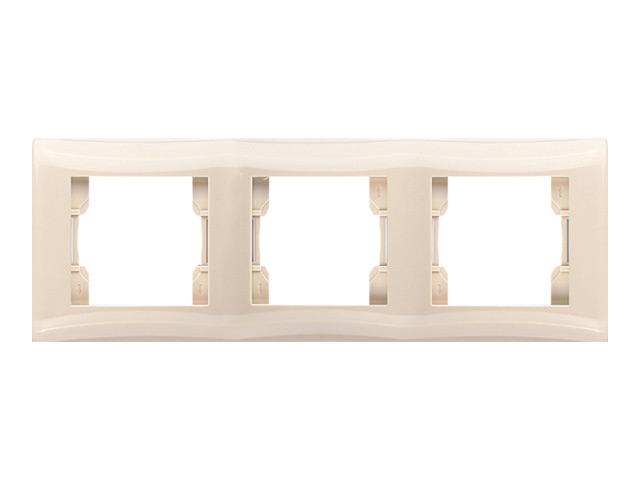 Рамка Magenta 3 мест.(крем) V01-12-A31-M